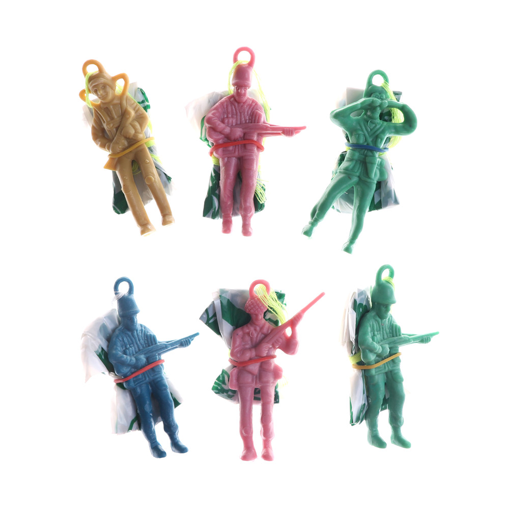 6Pcs Mini Hand Throwing Parachute Toy Educational Parachute Men With Figure Soldier Kids Outdoor Games Toy
