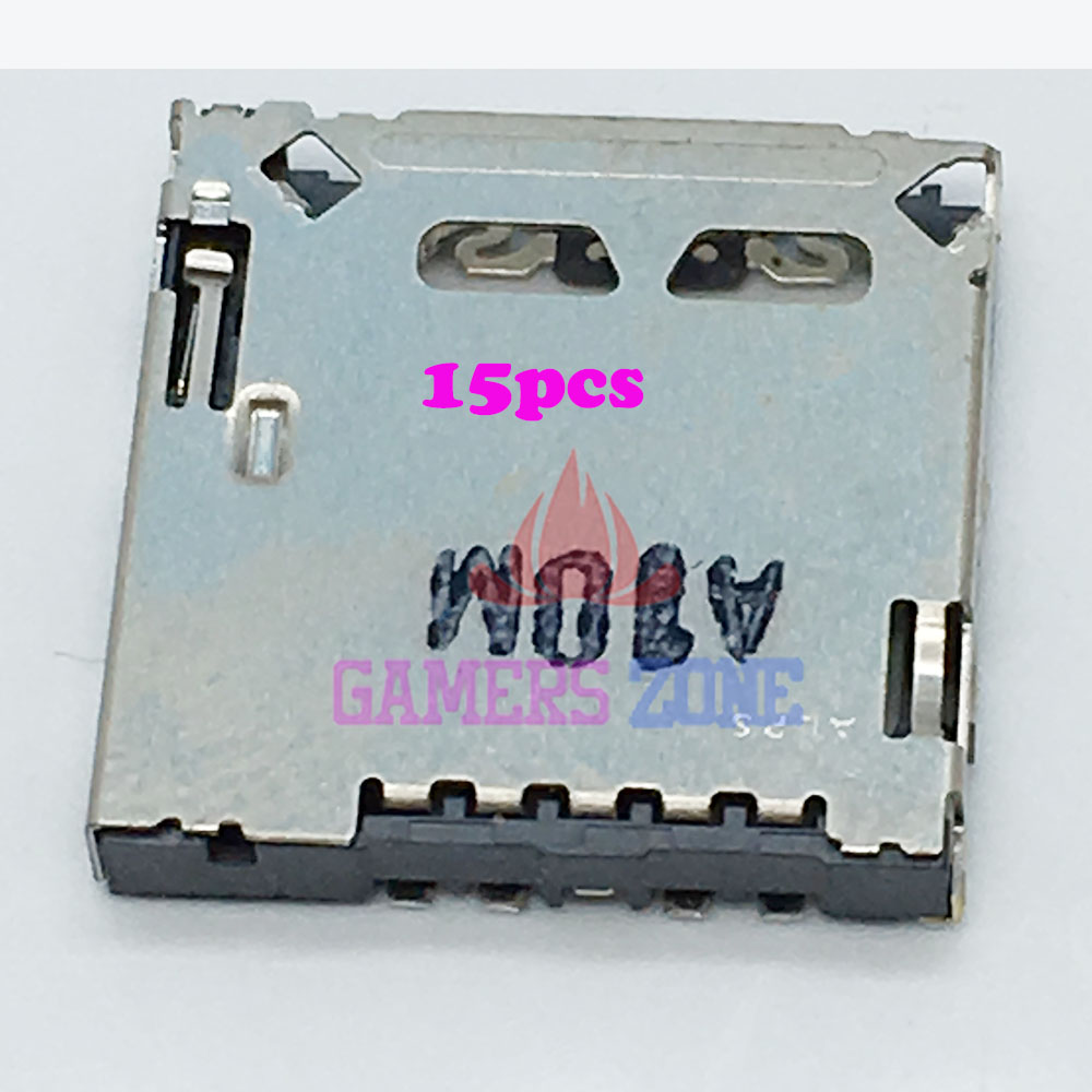 15PCS Card Slot Socket SD Card Reader For PSV1000 PSV 1000 Repair Part Used
