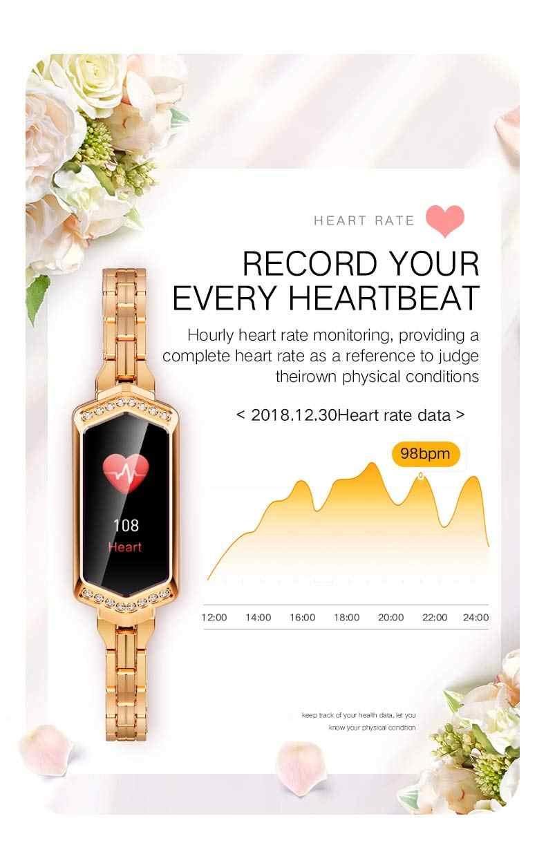 Activity Tracker, Kencool Wanita Smart Watch Band Kebugaran Tracker Pedometer Denyut Jantung Smart Kesehatan Gelang Band untuk Wanita Hadiah