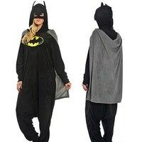 High Quality SA Quality Unisex Adult Winter Batman Kigurumi Pajamas Onesies Cosplay Costume With Glasses