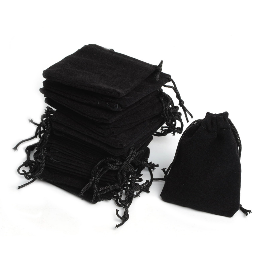 "25pcs Black 3/""x4"" Jewelry Pouches Velvet Gift Bags"