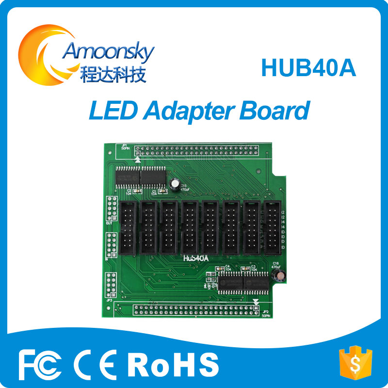 HUB40 Adapter Board Hub40a Pinbord For Led Full Color Led Display Work With Linsn Rv901 Nova Mrv300 Low Price