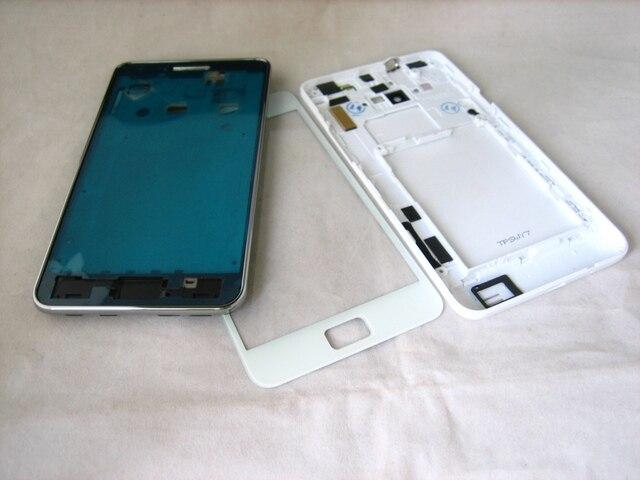 Белый Полный Крышку Корпуса + Переднее Стекло-Экран для Samsung Galaxy S2 SII GT-i9100 i9100
