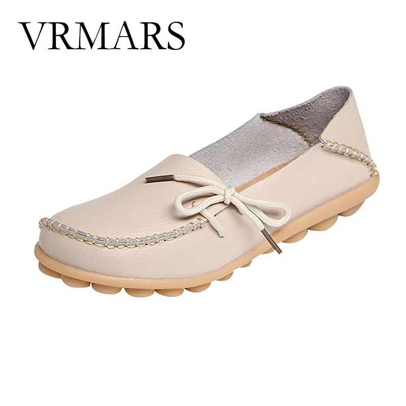 VRMARS 2017 Moccasins Women s Soft Leisure Flats Female Driving Shoes Loafers Mother Casual Shoes Woman