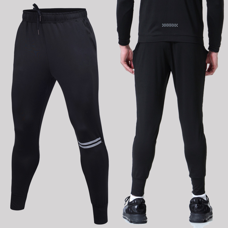 Sport & Unterhaltung Männer Laufhose Schwarz Und Rot Stitching Basketball Engen Jerseys Schnell Trocknend Yoga Sportswear Elastische Hosen Gym Kleidung