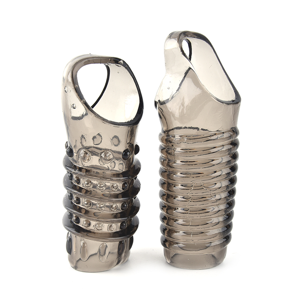 2pcs Reusable Cock Enlargement Extension Condom Super Extended Silicone Big Penis Sleeve Dick Extender Sex Toys For Men Adult High Standard In Quality And Hygiene Safer Sex