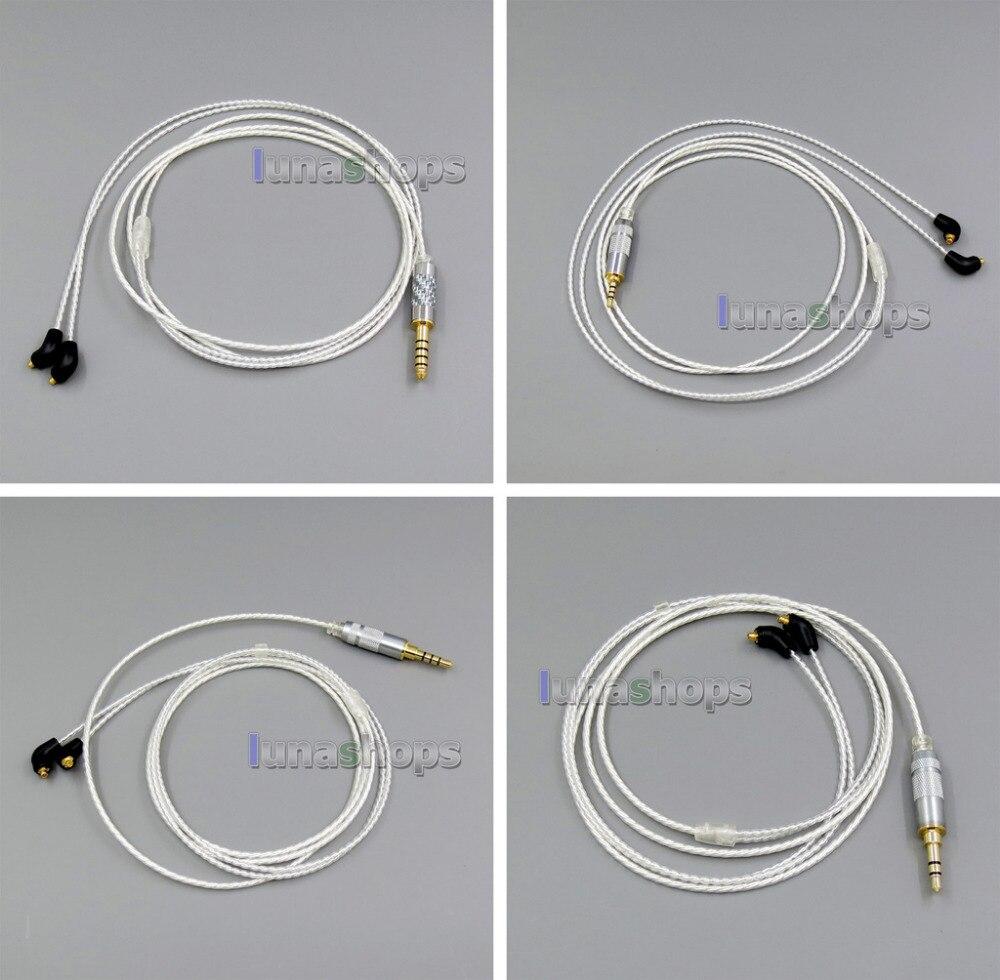 3 5mm 6n OCC Silver Plated Earphone Cable For Etymotic ER4 XR SR ER4SR ER4XR LN005730