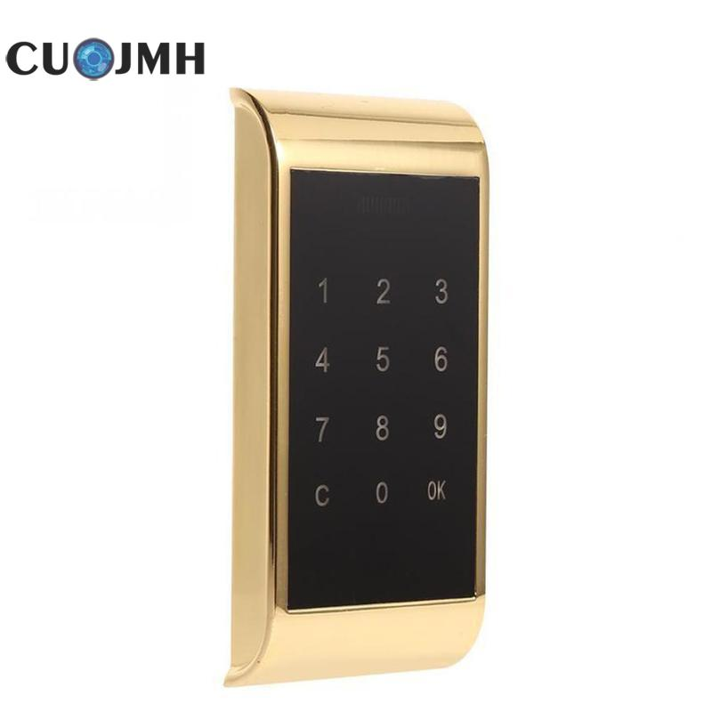 Electronic Door Lock Drawer Combination Digital Lock Gold And Silver Keypad Password Key Intelligent Lock friends f12 stainless steel combination lock silver