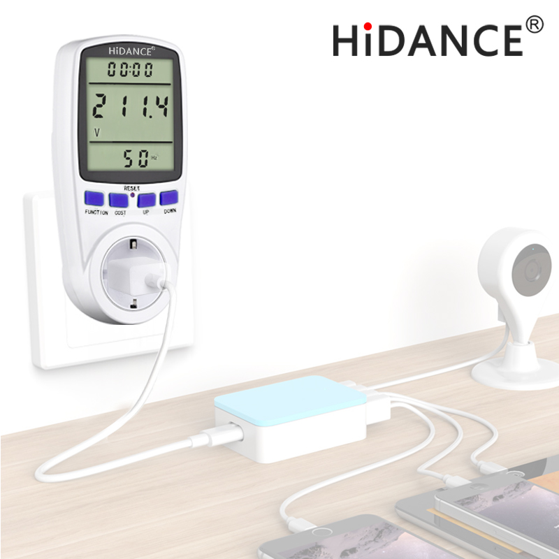 HiDANCE AC power meter 220 v digitale wattmeter eu energy meter watt monitor strom verbrauch Messung buchse analysator