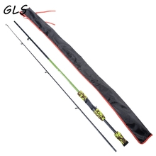 Green Camouflage Portable 1.8m Carbon Fiber Lure Fishing Rod Spinning Carp camouflage Casting