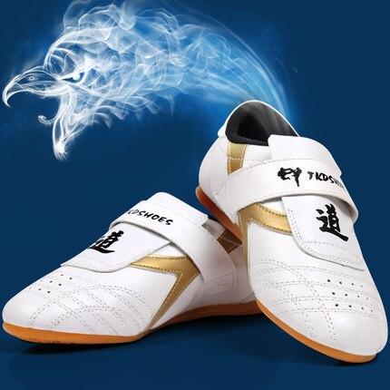 Для мужчин wo Для мужчин Искусственная кожа тхэквондо обувь классические таэквондо Каратэ Боевые искусства тренировочные кроссовки Беспла...