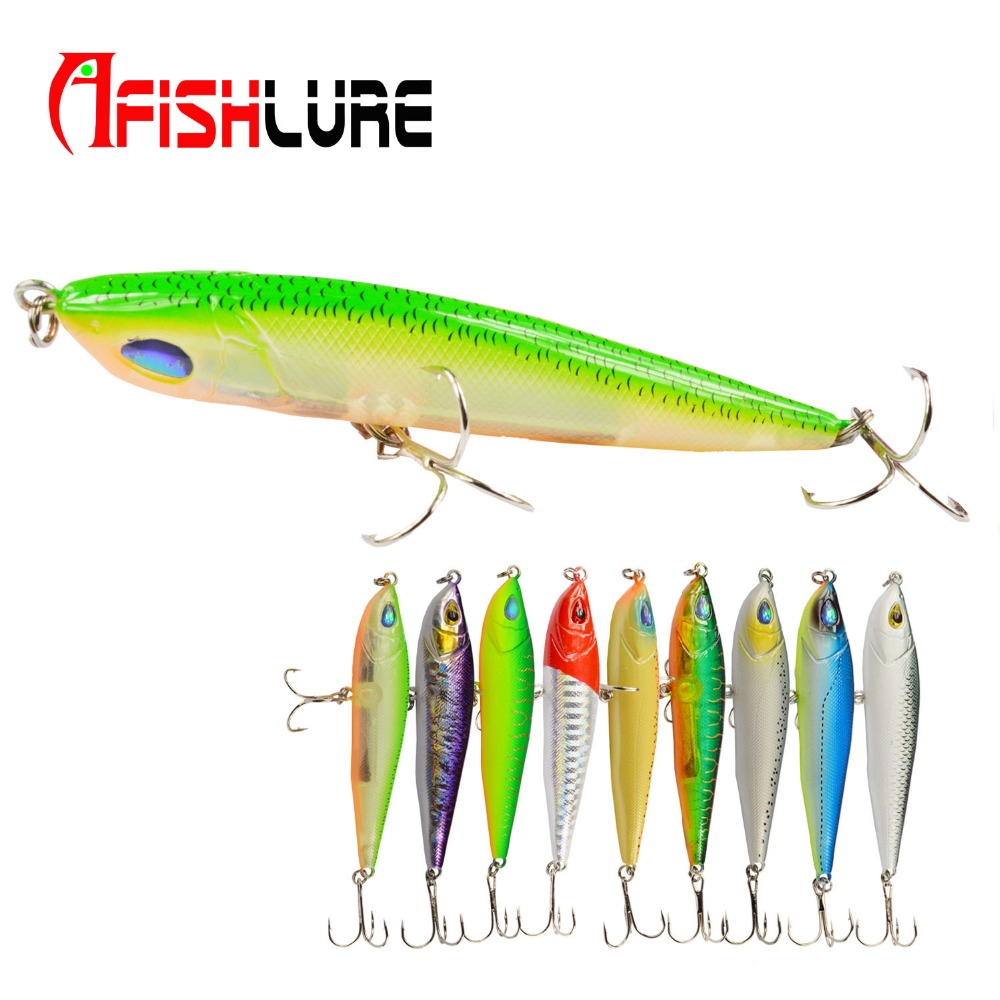 Afishlure Hard Lure Minnow 86mm 14g  Hard Bait Minnow  Bass Fresh Salt water Artificial Lure Sea Fishing Lure Multicolors