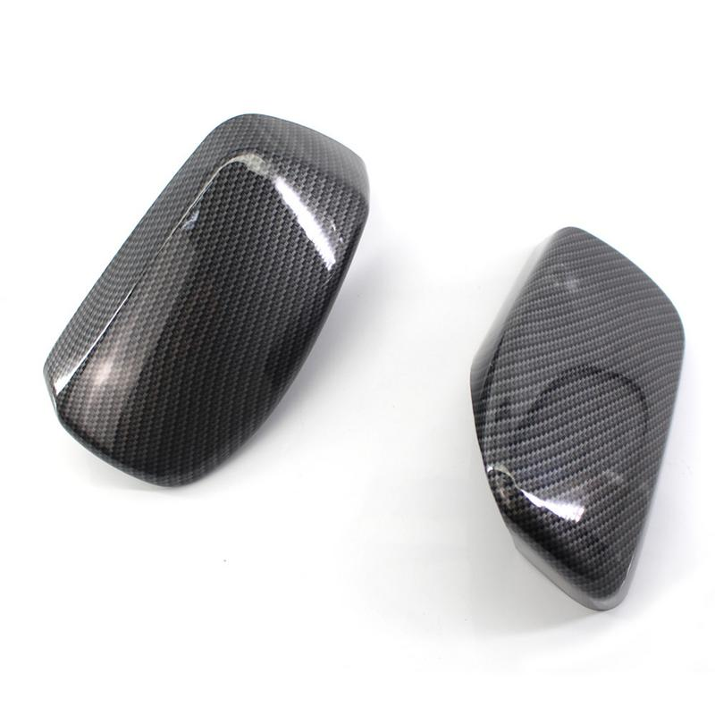 Side Rear Mirror Case Carbon Fiber Mirror Cover Replacement For BMW E60 520d 520i 523li 525li 530li 51167078360 51167078359