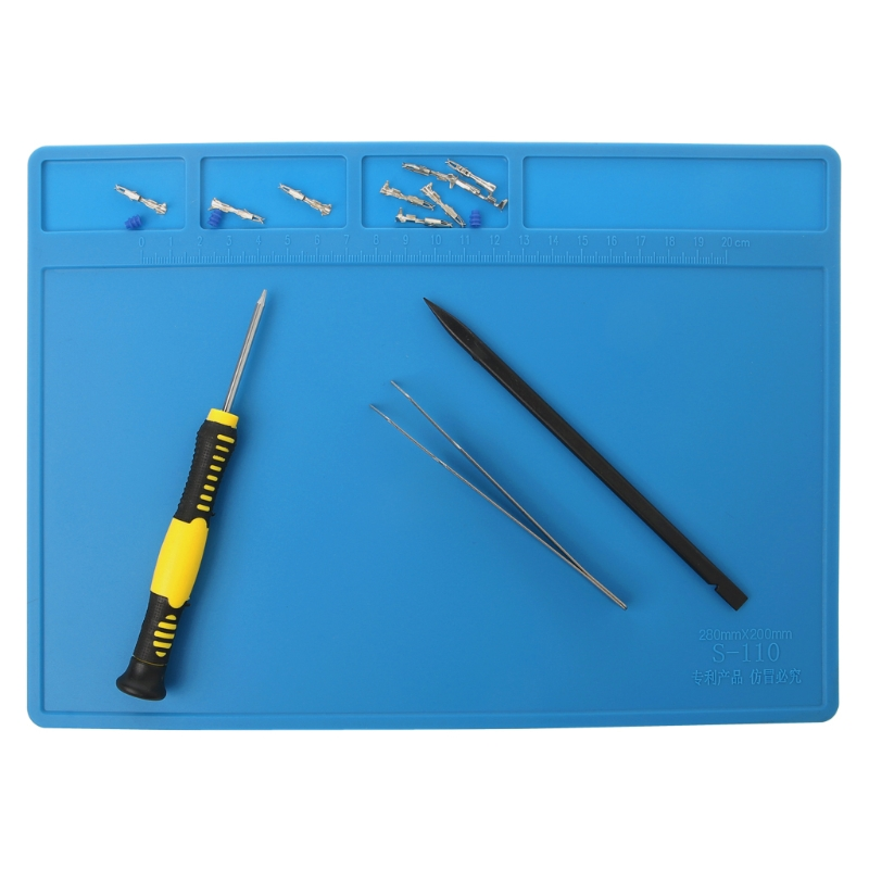 Heat Insulation Silicone Soldering Pad Repair Maintenance Platform Desk Mat 28x20cm Apr 11 in Electric Soldering Irons from Tools