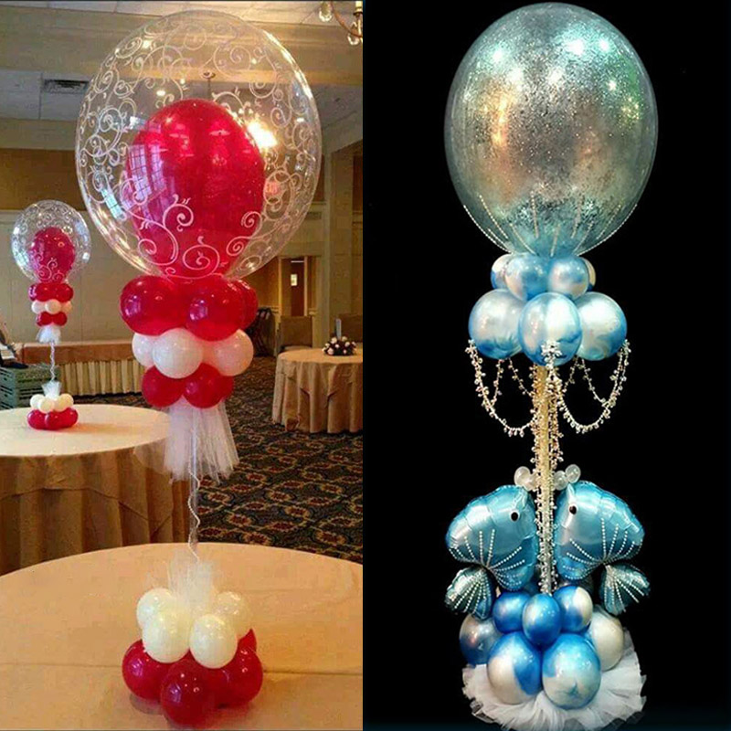 Image 5 - Wedding Decoration Table Balloon Stand Holder Balloons Stick Floating Baloon Supporting Rod Birthday Party Decoration Adult Kids-in Ballons & Accessories from Home & Garden