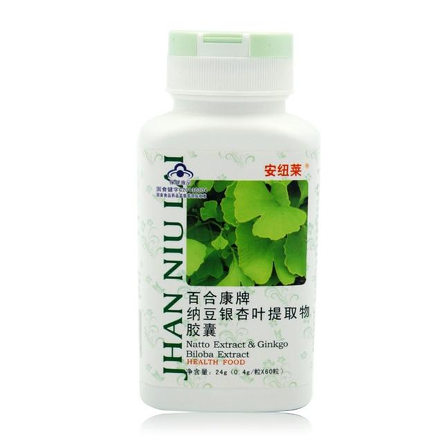 60 caps dietary supplement natto extract ginkgo biloba extract capsule Enhance immunity