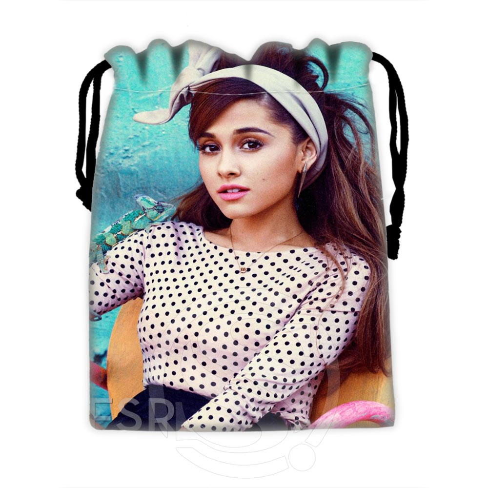 H-P618 Custom Ariana Grande #15 Drawstring Bags For Mobile Phone Tablet PC Packaging Gift Bags18X22cm SQ00806#H0618