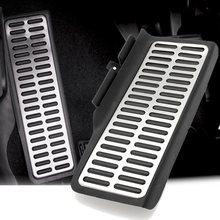 1х мертвая Накладка для ног Подножка педаль алюминиевая для Фольксваген Джетта MK6 2012- черный и серебристый супер Противоскользящий