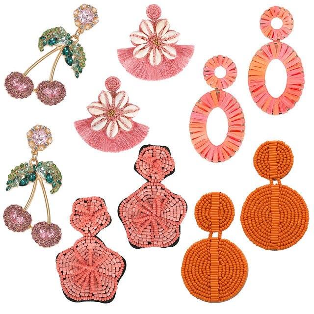 Лучшее для леди богемный Винтаж длинные сережки с кисточками для женщин летние женские свадебные Boho себе падение длинные висячие серьги оптовая продажа 5069