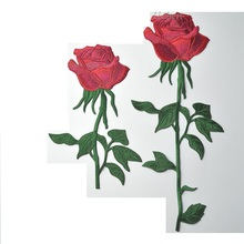 Rose embroidery cloth patch national style cheongsam applique large retro fashion accessories