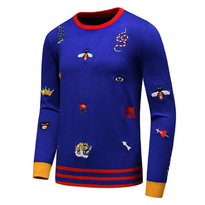 New 2019 Men Luxury Winter Embroidered a