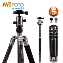MeFOTO C1350Q1 Carbon Fiber Professional Tripod Kit Lightweight Portable Travel Tripod With Stable Ball Head For Digital Camera