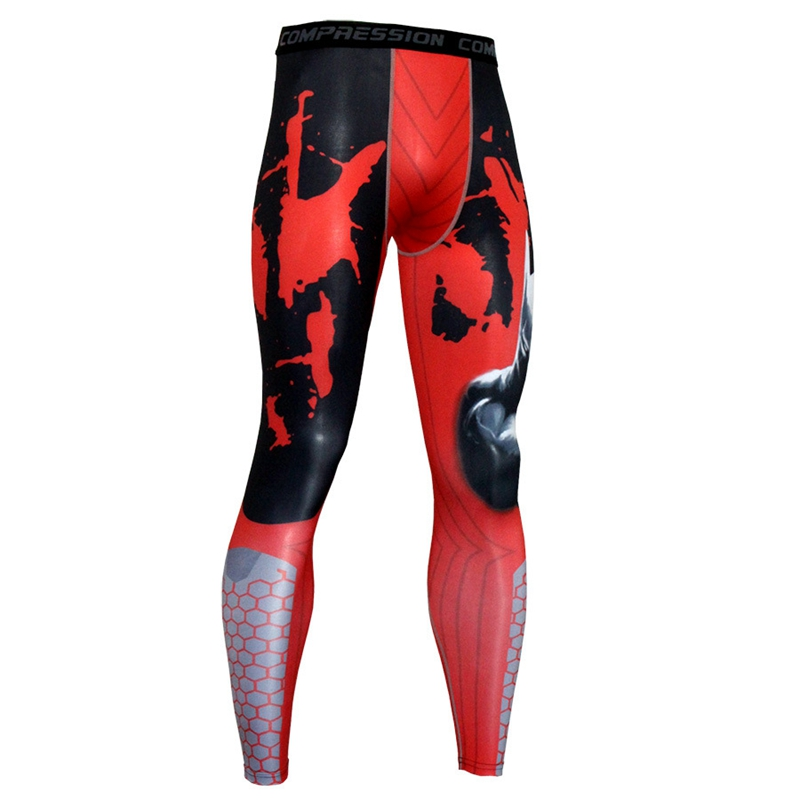 High Quality Jogger Mens Anime 3D Print Male Compression Pants Stretch Crossfit Quick Dry Pants Bodybuilding MMA Mens Pants