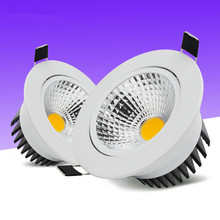 Dimmable Led downlight light COB Ceiling Spot Light 15W 12W 9W 6W AC 110V/220V recessed Lights Indoor Lighting [dbf]silver housing led cob downlight dimmable ac110v 220v 6w 9w 12w 15w 18w recessed led spot light decoration ceiling lamp