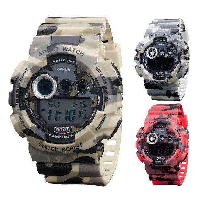 2017 New Luxury Brand Men Army Military Infantry Waterproof LED Digital Watch Da