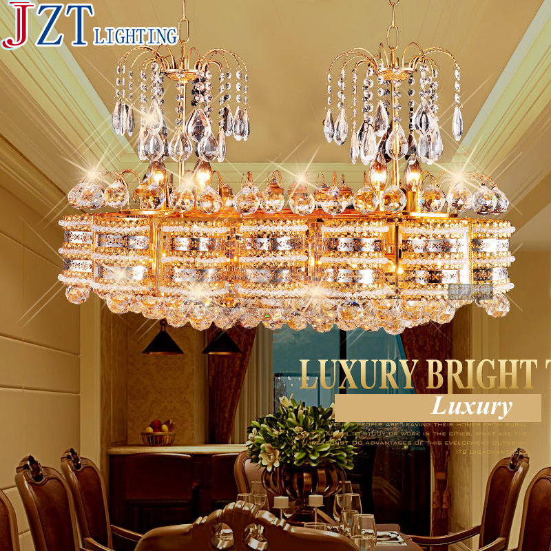 M Living Room Oval Crystal Pendant Lamp Restaurant LED Double Head Dining Pendant Villa Square Bedroom Lighting Fixtures modern crystal chandelier hanging lighting birdcage chandeliers light for living room bedroom dining room restaurant decoration
