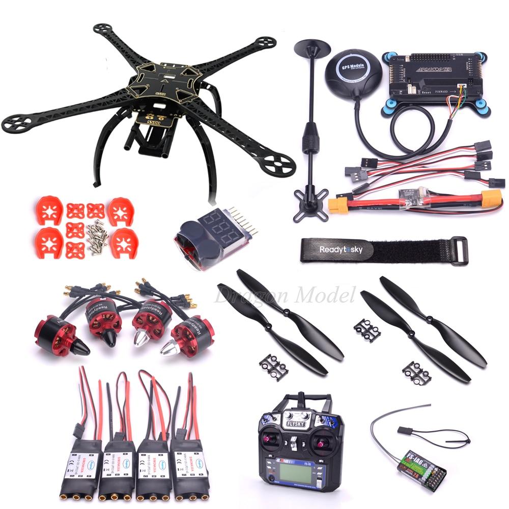 S500 500mm PCB Quadcopter Frame Kit APM2 8 flight controller 7M GPS Power Module 2212 920kv