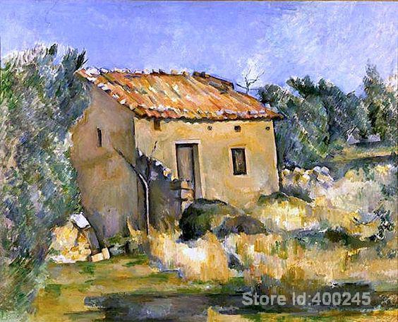 Impressionniste Art Maison Abandonne Prs DAix En Provence Paul