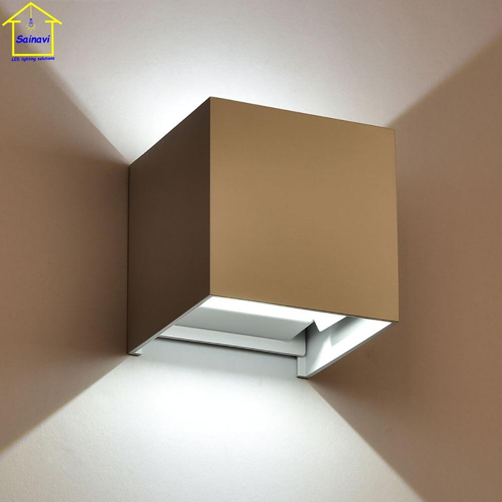 Applique Extérieure Eclairage Haut Et Bas 6 w angle réglable cube simple moderne led applique murale