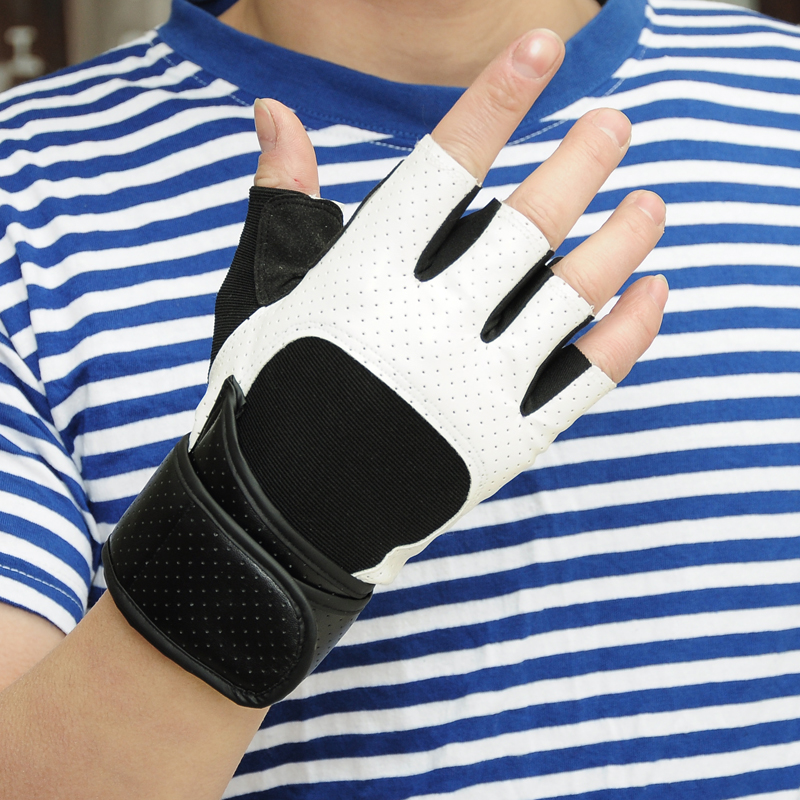 Весенние и летние мужские Спортивные Перчатки для фитнеса, черные и белые противоскользящие Тактические Перчатки для фитнеса