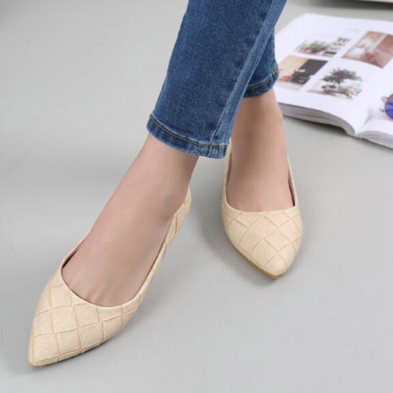 2017 brand women spring fashion casual flats shoes party shallow Pointed Toe shoes designer leather Students boat shoes XA-28 new hot spring summer high quality fashion trend simple classic solid pleated flats casual pointed toe women office boat shoes