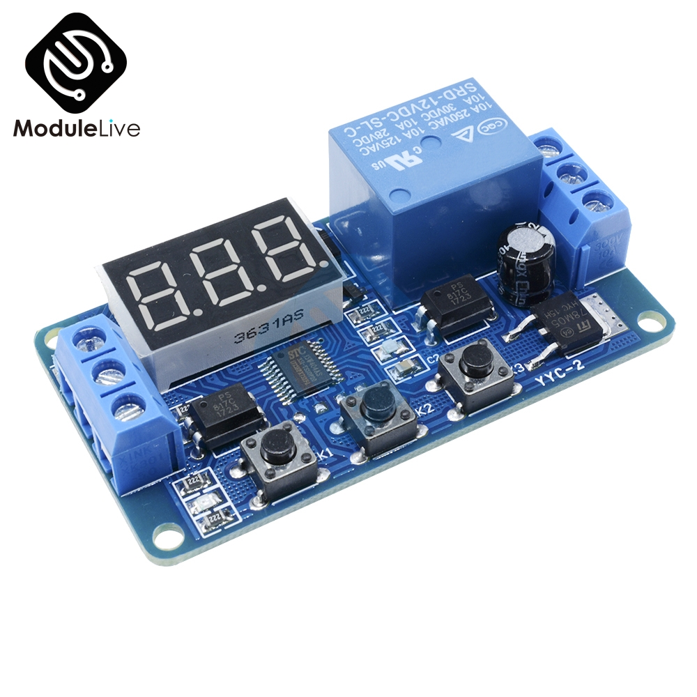 DC 12V LED Digital display Home Automation Delay Relay Trigger Time Circuit Timer Control Cycle Adjustable Switch Relay Module 12v high quality cycle delay relay switch module cycle time delay circuit stable performance