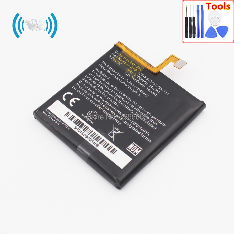 VK New 3800mAh/14.6Wh 3.8V S60 Replacement Battery For Caterpillar CAT S60 Mobile Phone Rechargeable Li-polymer Inbuilt Bateria