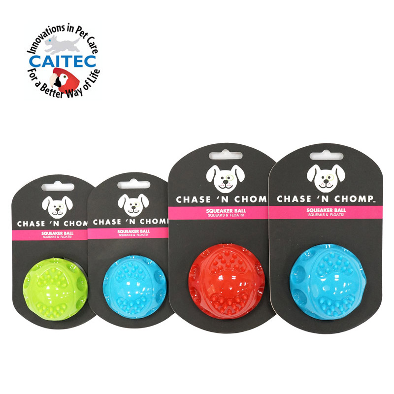 CAITEC Dog Toys Squeaking Bouncing Ball Durable Floatable Springy Pet Toys Squeaky Ball Bite Resistant for