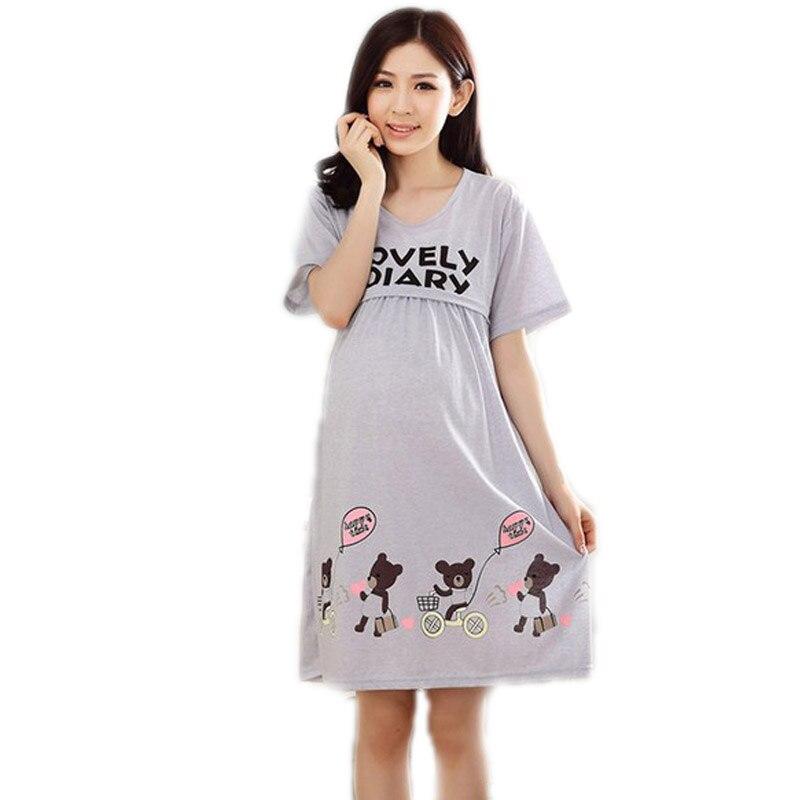 Breast Feeding Clothes 2017 New Summer Pregnant Women Short Sleeve Dress Nursing Clothes Maternity Dresses Long Maternity Dress