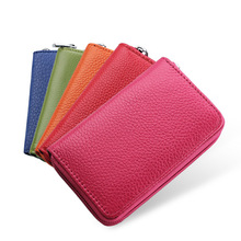 Wholesale Fashion Genuine Leather Cowhide Rfid Card Holder Women Men Wallet For Credit Card Business Card Holder Organizer Purse 2017 genuine leather women men id card holder coin purse card wallet credit card business card holder protector organizer hb43