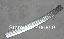 High quality stainless steel Rear bumper Protector Sill For 2010 2013 Mitsubishi Lancer Lancer X Lancer