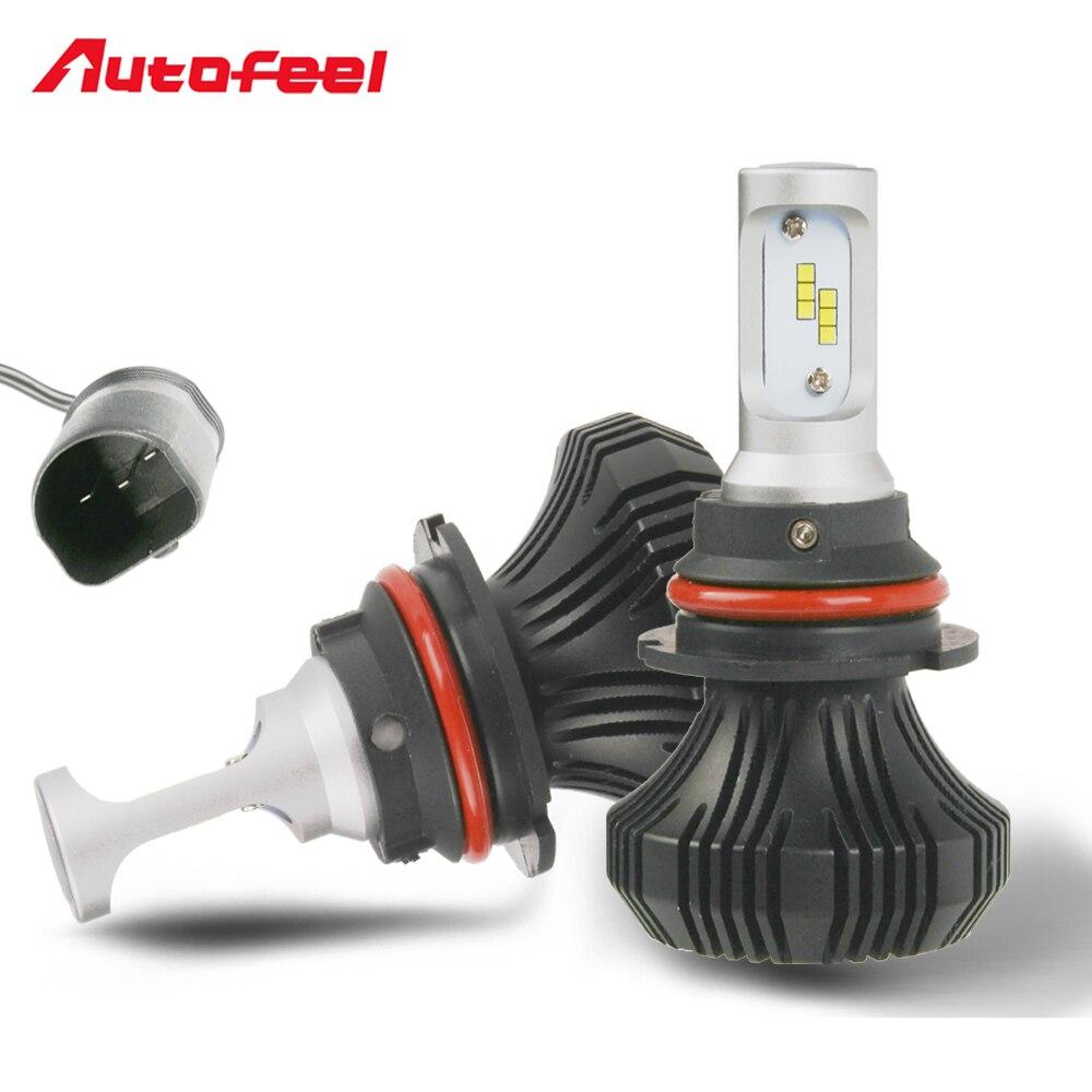Car color kit - Autofeel 9007 Combo Hi Lo Beams Led Headlight Bulbs Kit 168w 16000lm Headlamp 6000k White Color Automobile Front Fog Light Lamps