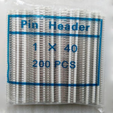 10 шт./лот, хорошее качество, 2,54 мм, 1X40, Однорядная штыревая белая лента