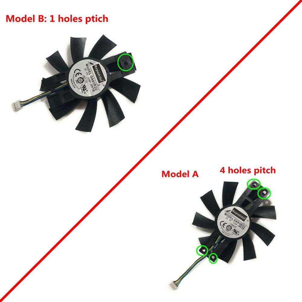 85MM GA92B2U AX RX570 GPU VGA Cooler Graphics Fan For Radeon