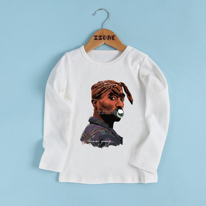 17f29b1a3 Children Tupac 2pac Hip Hop Swag Printed T-shirt Kids Baby Fashion Casual Clothes  Girls/Boys Long Sleeve White T-shirt,LKP287