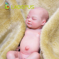 lagopus New Fashion 10 Inch Vinyl Glue True Touch Silicone Reborn Dolls Sleeping Real Newborn Reborn Babies Toys for Girls Gift