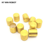potentiometer knob 10pcs 15*17mm aluminum alloy potentiometer 15*17 knob rotation switch volume control knob gold (5)