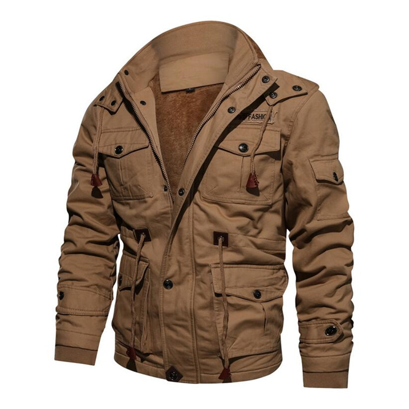 2492594f6b57f Asstseries Men s Winter Fleece Jackets Warm Hooded Coat Thermal Thick Outerwear  Male Military Jacket Mens Brand