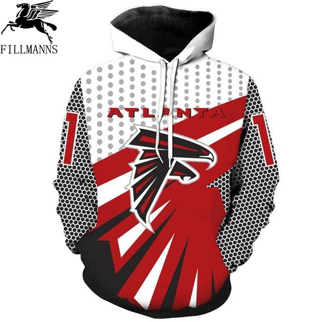 Hot ATLANTA Falcons Men/Women 3d Sweatshirts Print Harajuku Personality Hooded Hoodies Long Sleeve Thin Pullovers Tops 6XL