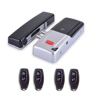 Wireless 433Mhz Access Control Kit Wireless Electric Door Lock With 4pcs Remote Control Exit